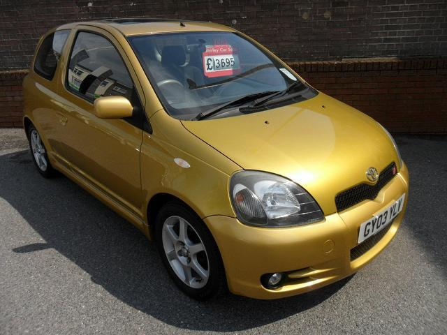 used toyota yaris 2003 manual petrol 1 5 vvt i t sport gold for sale uk autopazar. Black Bedroom Furniture Sets. Home Design Ideas