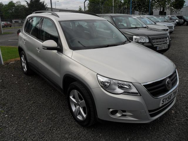used volkswagen tiguan 2008 silver paint diesel 2 0 tdi s 5dr 4x4 for sale in inveralmond place. Black Bedroom Furniture Sets. Home Design Ideas