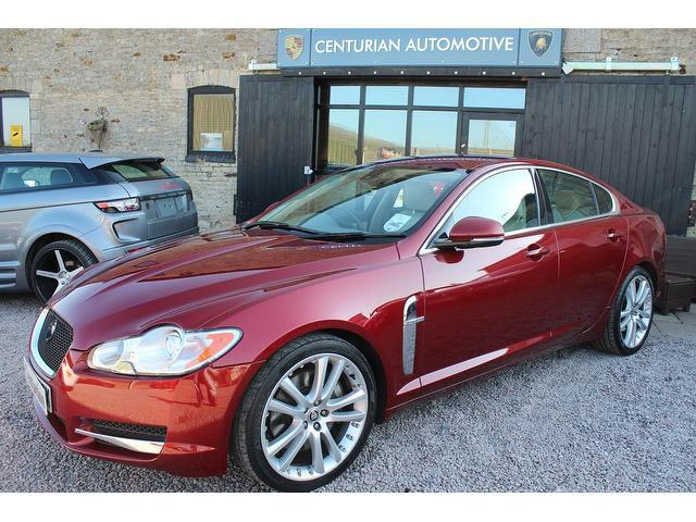 used jaguar xf 2010 model 3.0d v6 s premium diesel saloon red for