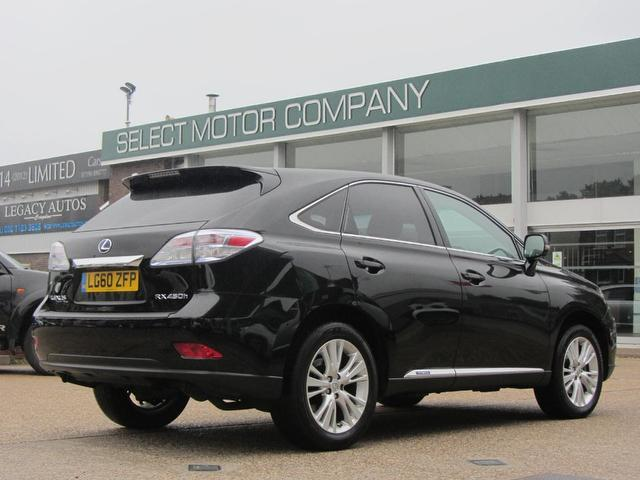 used lexus rx 2010 hybrid 450h 3 5 se i 5dr 4x4 black with. Black Bedroom Furniture Sets. Home Design Ideas