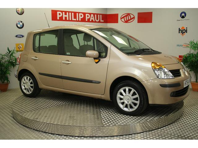used renault modus 2005 gold paint petrol 1 6 privilege 5dr full hatchback for sale in oswestry. Black Bedroom Furniture Sets. Home Design Ideas