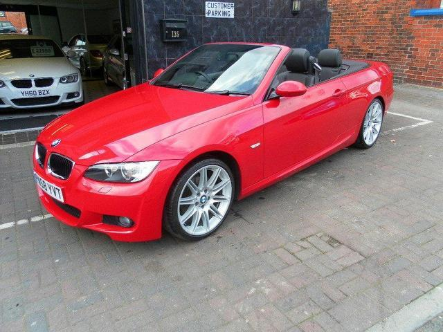 used bmw 3 series 2008 petrol 320i m sport convertible red manual for sale in stockport uk. Black Bedroom Furniture Sets. Home Design Ideas