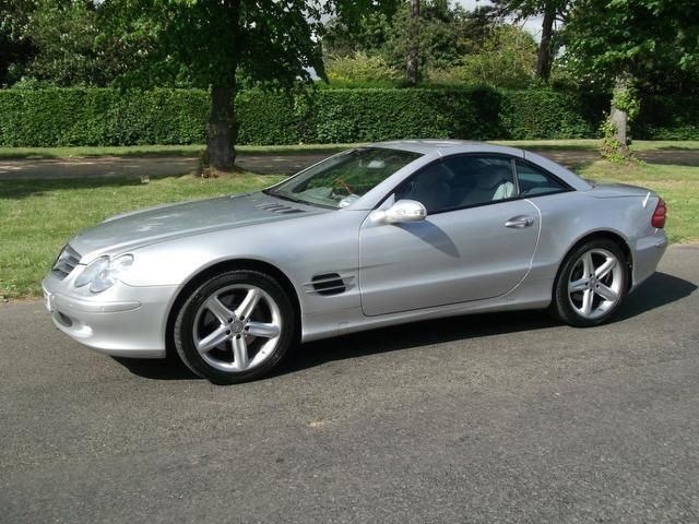 Used silver mercedes benz 2002 petrol class sl 500 2dr for 2002 mercedes benz convertible