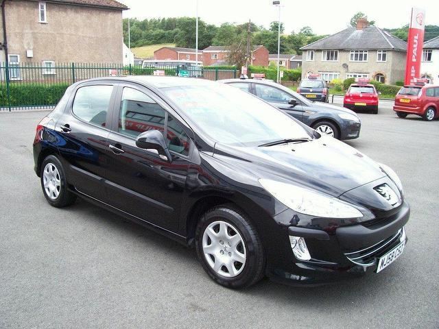 used peugeot 308 2008 petrol 1 4 vti s 5dr hatchback black manual for sale in oswestry uk. Black Bedroom Furniture Sets. Home Design Ideas