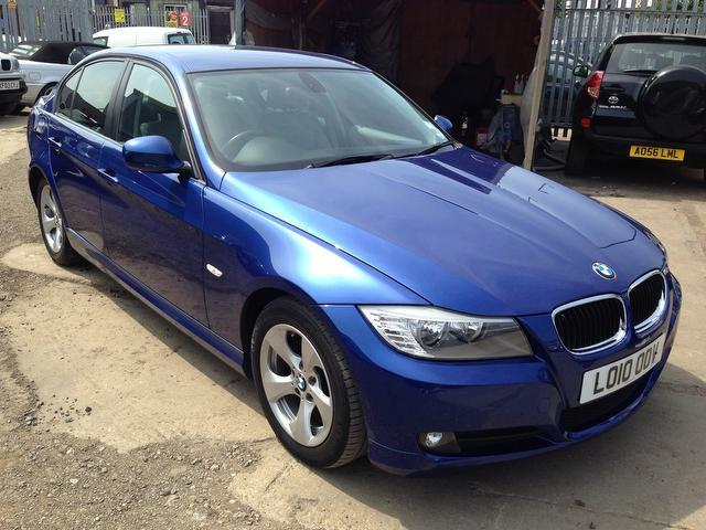 used bmw 3 series 2010 blue paint diesel 320d efficientdynamics 4dr saloon for sale in wembley. Black Bedroom Furniture Sets. Home Design Ideas