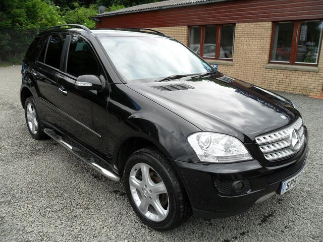 used mercedes benz 2007 black paint diesel class ml320 cdi