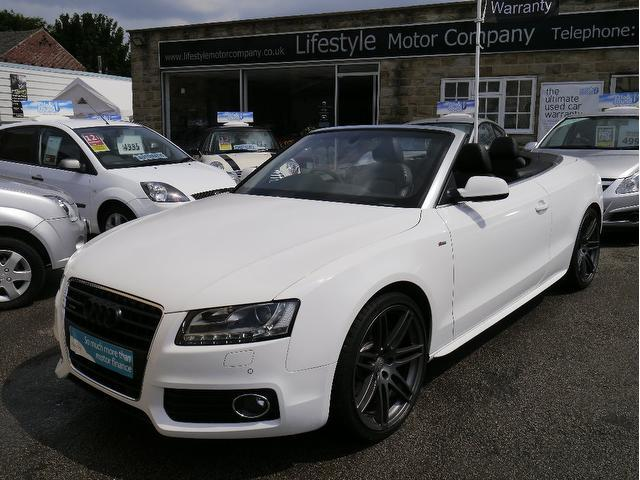 used white audi a5 2009 petrol fsi s line convertible in great condition for sale autopazar. Black Bedroom Furniture Sets. Home Design Ideas