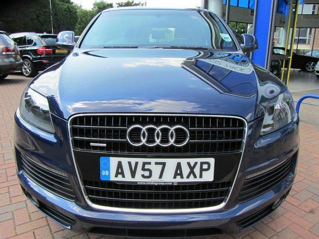 used audi q7 3 0 2007 diesel tdi quattro s 4x4 blue automatic for sale in sevenoaks uk autopazar. Black Bedroom Furniture Sets. Home Design Ideas
