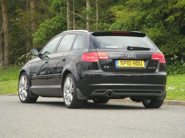 used audi a3 2 0 2010 diesel tdi s line hatchback black manual for sale in turrif uk autopazar. Black Bedroom Furniture Sets. Home Design Ideas