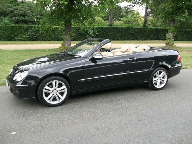 Used black mercedes benz 2007 petrol 280 avantgarde 2dr for Used convertible mercedes benz for sale