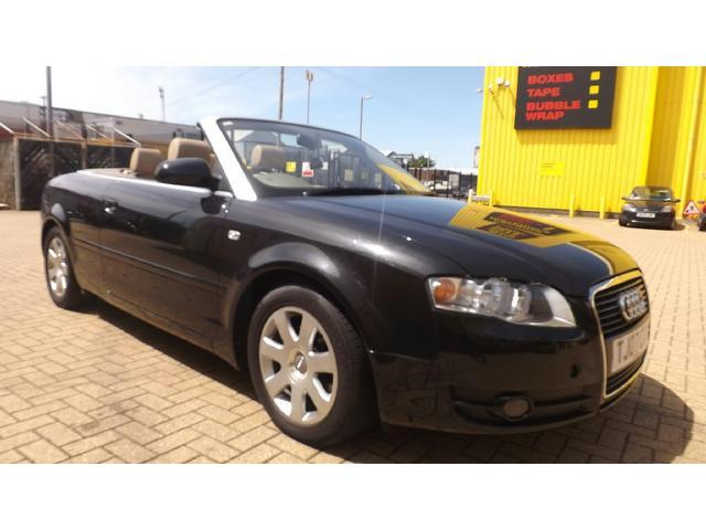 used audi a4 2007 black paint diesel 2 0 tdi 2dr cream convertible for sale in portsmouth uk. Black Bedroom Furniture Sets. Home Design Ideas