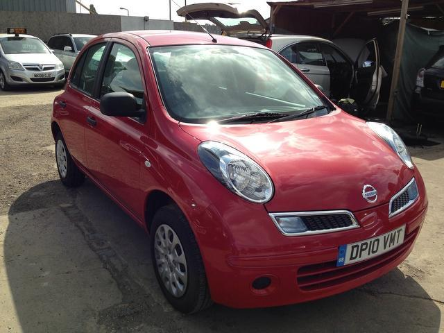 used nissan micra 2010 model 1 2 80 visia 5dr petrol hatchback red for sale in wembley uk. Black Bedroom Furniture Sets. Home Design Ideas