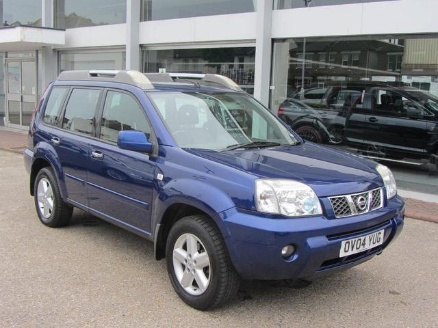 used blue nissan x trail 2004 petrol 2 5 16v t spec 5dr. Black Bedroom Furniture Sets. Home Design Ideas