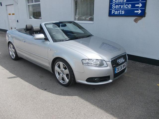 used 2008 audi a4 convertible silver edition 2 0 tdi s line diesel for sale in wirral uk autopazar. Black Bedroom Furniture Sets. Home Design Ideas