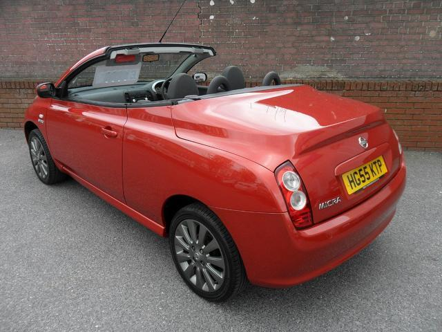 used nissan micra 2006 red colour petrol 1 6 sport 2 door convertible for sale in southampton uk. Black Bedroom Furniture Sets. Home Design Ideas