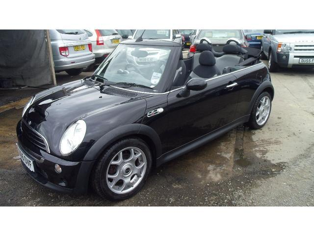 used mini convertible 2005 black paint petrol 1 6 cooper s 2dr for sale in wembley uk autopazar. Black Bedroom Furniture Sets. Home Design Ideas