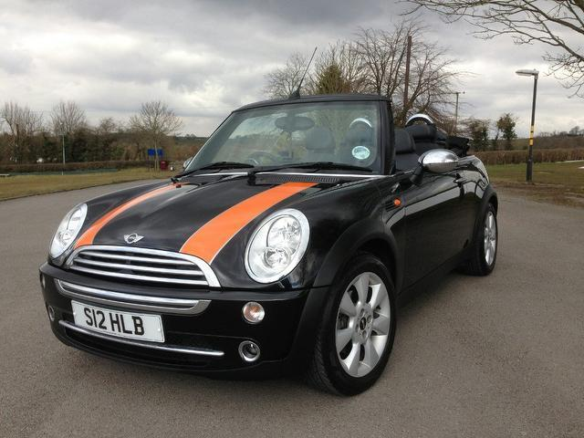 used mini convertible 2004 petrol 1 6 cooper 2dr only black with central locking kit for sale. Black Bedroom Furniture Sets. Home Design Ideas