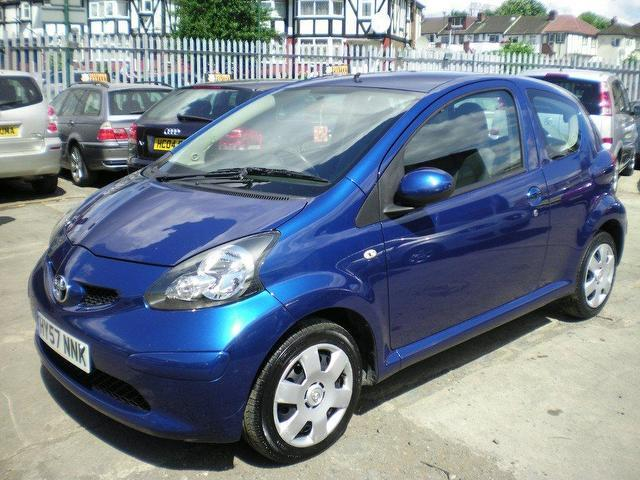 used toyota aygo 2007 petrol 1 0 vvt i blue 3dr hatchback manual for sale in wembley uk autopazar. Black Bedroom Furniture Sets. Home Design Ideas