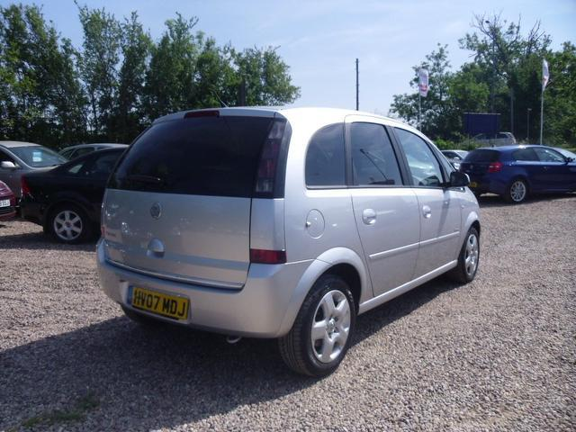 Used Vauxhall Meriva 1.4 16v Energy 5 Door Estate Silver 2007 Petrol for Sale in UK