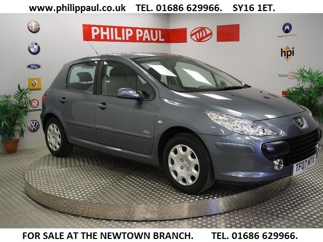 Used Peugeot 307 2007 Grey Hatchback Petrol Manual for Sale