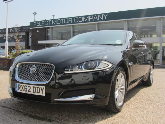used black jaguar xf 2012 diesel v6 luxury 4dr saloon. Black Bedroom Furniture Sets. Home Design Ideas