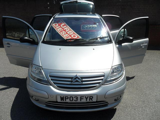 used citroen c3 2003 diesel 1 4 hdi 16v exclusive hatchback silver with cruise control for sale. Black Bedroom Furniture Sets. Home Design Ideas