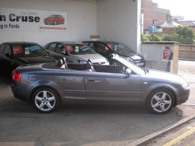 used audi a4 car 2004 grey diesel 2 5 tdi 163 sport convertible for sale in gravesend uk autopazar. Black Bedroom Furniture Sets. Home Design Ideas