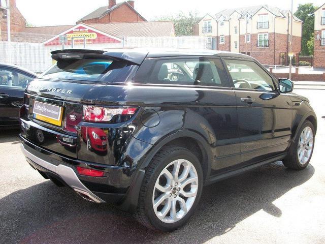 used landrover rover 2012 petrol range evoque 2 0 coupe black automatic for sale in wakefield uk. Black Bedroom Furniture Sets. Home Design Ideas