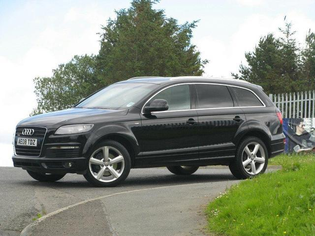 used audi q7 3 0 2008 diesel tdi quattro 240 4x4 black. Black Bedroom Furniture Sets. Home Design Ideas