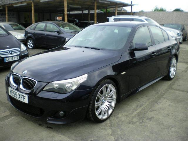 used bmw 5 series 2005 diesel 525d m sport saloon black. Black Bedroom Furniture Sets. Home Design Ideas