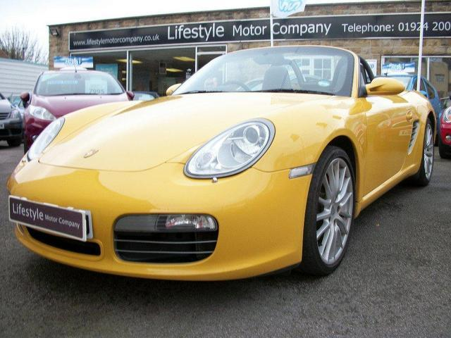 used porsche boxster 2005 yellow convertible petrol manual for sale