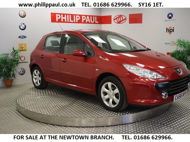 Used Peugeot 307 2007 Red Hatchback Petrol Manual for Sale