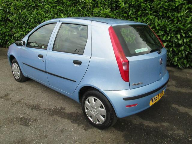 used fiat punto 2003 petrol 1 2 active 5dr ideal hatchback blue with for sale autopazar. Black Bedroom Furniture Sets. Home Design Ideas