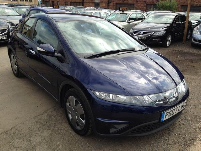 used honda civic 2007 blue colour petrol 1 4 i dsi se 5 door hatchback for sale in wembley uk. Black Bedroom Furniture Sets. Home Design Ideas