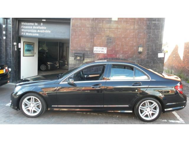 used black mercedes benz 2009 diesel class c200 cdi sport saloon in great condition for sale. Black Bedroom Furniture Sets. Home Design Ideas