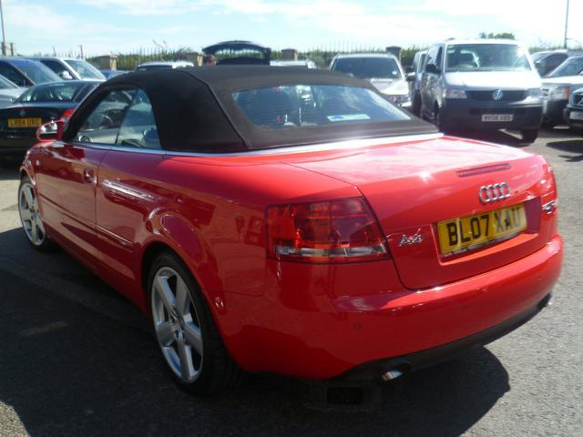 used audi a4 2007 diesel 2 0 tdi s line convertible red edition for sale in penzance uk autopazar. Black Bedroom Furniture Sets. Home Design Ideas