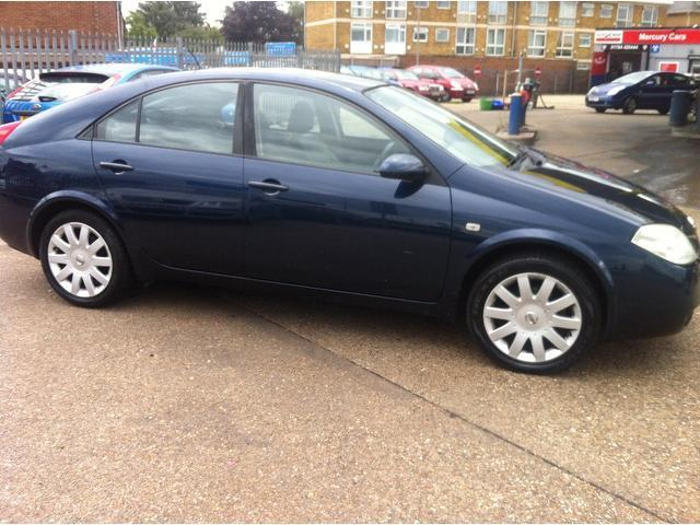 used nissan primera 2005 petrol sve 5dr hatchback blue with full service history for sale. Black Bedroom Furniture Sets. Home Design Ideas