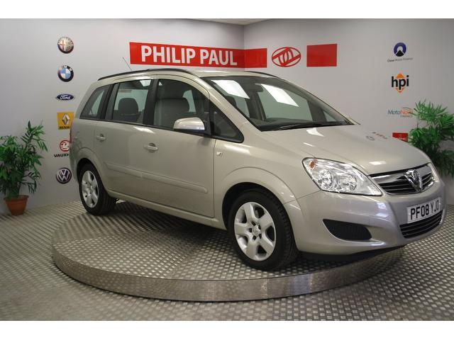 used vauxhall zafira 2008 beige paint petrol exclusiv 5dr auto estate for sale in oswestry. Black Bedroom Furniture Sets. Home Design Ideas