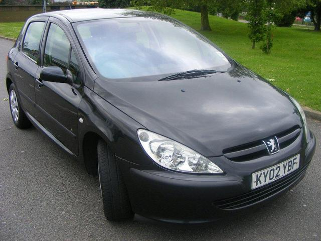 used peugeot 307 2002 petrol 1.4 lx 5dr hatchback black manual for