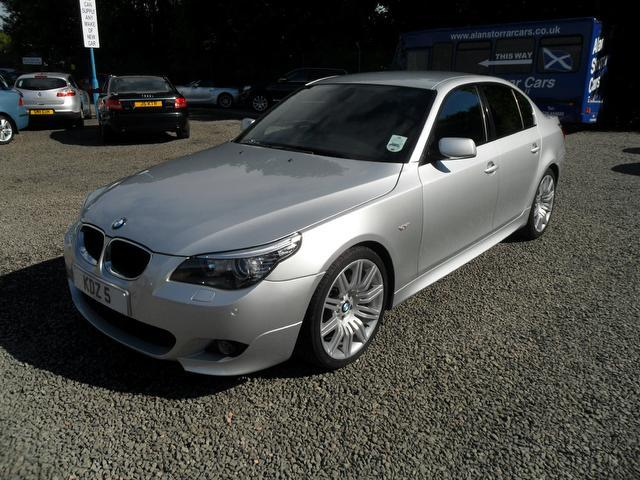 used bmw 5 series 2009 silver colour diesel 520d m sport. Black Bedroom Furniture Sets. Home Design Ideas