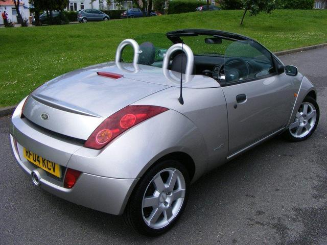 used ford streetka 2004 petrol luxury 2dr leather convertible silver manual for sale in. Black Bedroom Furniture Sets. Home Design Ideas