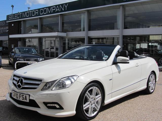 used mercedes benz 2010 diesel class e350 cdi blueefficiency convertible white with for sale. Black Bedroom Furniture Sets. Home Design Ideas