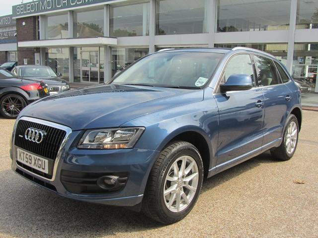 used audi q5 2009 blue paint diesel 3 0 tdi quattro se 4x4 for sale in sevenoaks uk autopazar. Black Bedroom Furniture Sets. Home Design Ideas