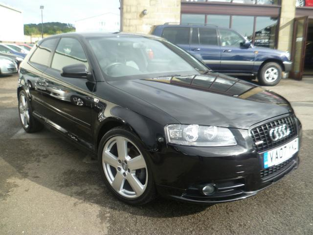 used audi a3 2007 diesel 2 0 tdi s line hatchback black with for sale autopazar. Black Bedroom Furniture Sets. Home Design Ideas
