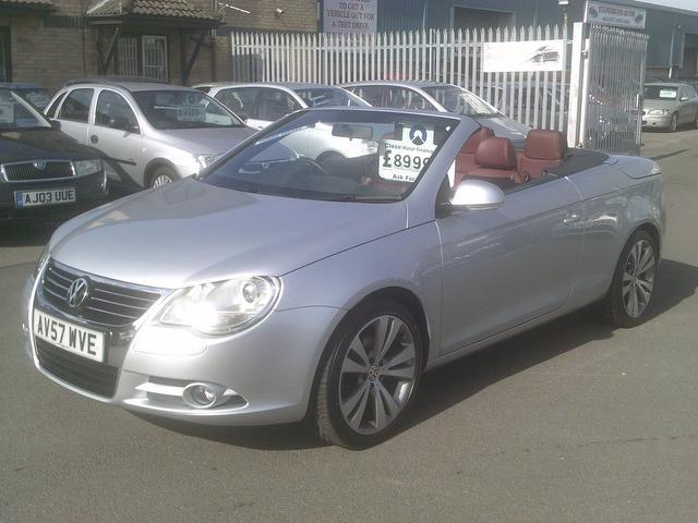 used 2007 volkswagen eos convertible silver edition 2 0 tdi sport 2dr diesel for sale in fengate. Black Bedroom Furniture Sets. Home Design Ideas