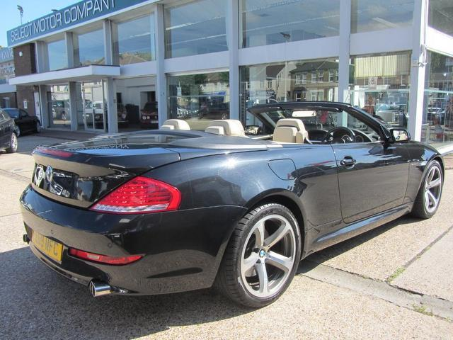 used bmw 6 series 2009 black colour diesel 635d sport 2 door convertible for sale in sevenoaks. Black Bedroom Furniture Sets. Home Design Ideas