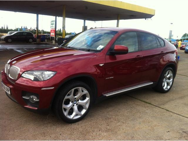 used bmw x6 2009 red paint diesel xdrive35d 5dr step auto. Black Bedroom Furniture Sets. Home Design Ideas