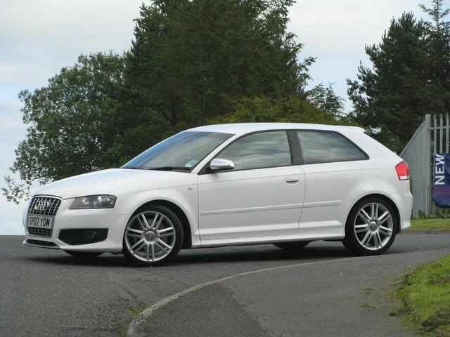 used audi s3 2007 petrol quattro 3dr 2 0 hatchback white manual for sale in turrif uk autopazar. Black Bedroom Furniture Sets. Home Design Ideas