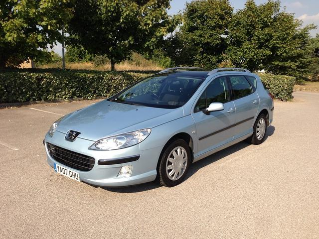 Used Peugeot 407 2007 Blue Estate Diesel Manual for Sale