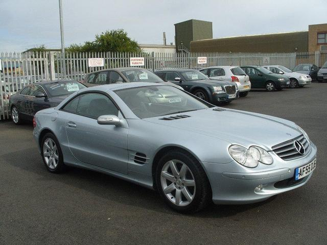 Used mercedes benz 2005 silver paint petrol class sl 350 for Mercedes benz sl550 for sale used